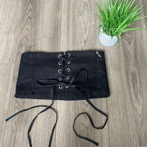 Zara NWOT Lace crop tube top